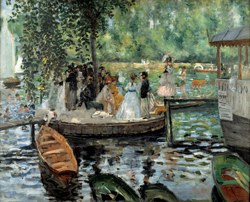 """P.-A. Renoir """"La Grenouillère"""", 1869"""