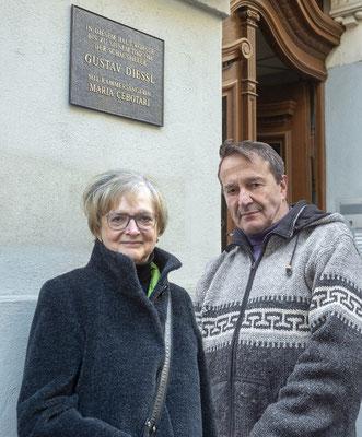 Dr. R. Killius mit F. Diessl-Curzon, Foto © F. Diessl-Curzon