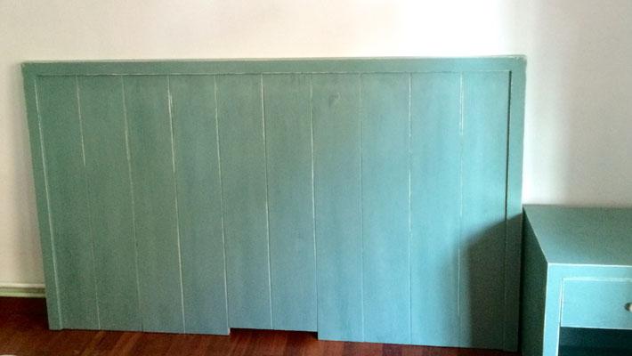 Capçal de llit decapat en verd Ref TC008