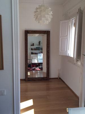 Espejo con madera antigua reciclada Ref: D11