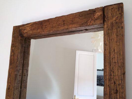 Espejo de madera antigua reciclada Ref: D11