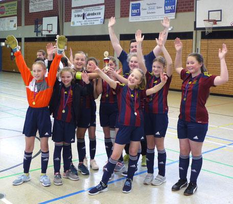 Unser Juniorinnen beim Lossmerkicke-Cup im Januar 2020