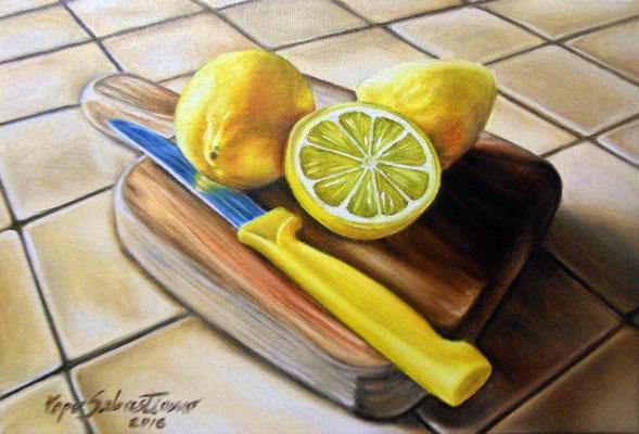 Limoni - Olio su tela 20X30