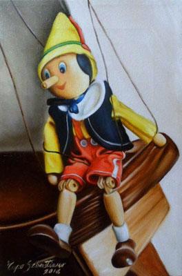 Pinocchio - Olio su tela 20X30