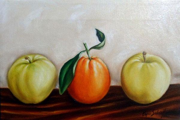 Frutta - Olio su tela 20X30
