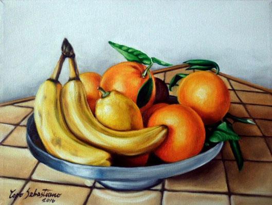 Vassoio di frutta - Olio su tela 30X40