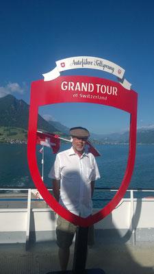 Bei so viel Schönheit am Morgen wird selbst ein Schweizer überschwenglich. Martin Rüegsegger mit Nationalbeflaggung...