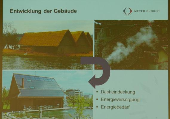 und Illustration zur Entwicklung der Dach-Kultur...