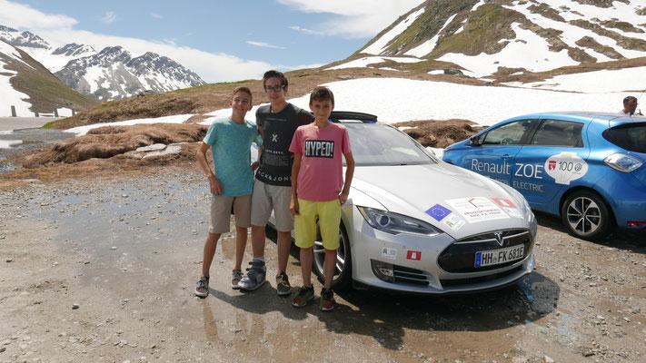 Cedric, Pascal und ihr Freund (von links)