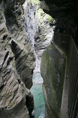 Viamala unten: Dorthin gelangte man, wenn man es oben nicht mehr schaffte. Weiche Landungen sehen anders aus.
