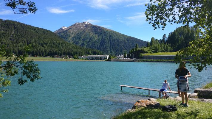 Davos-See mit hoher Abkühlungs-Kapazität...