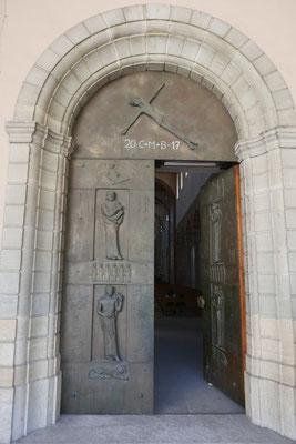 Die Portaltür des Münsters zu Allerheiligen (Schaffhausen).