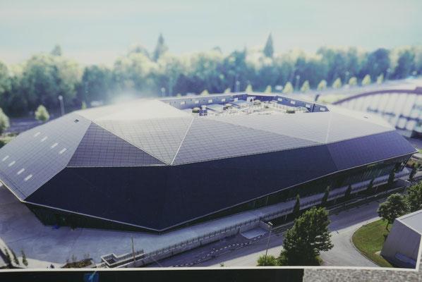 Dachbedeckung im futurisischen Stile