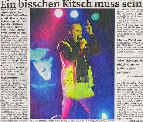 Blue Christmas Elvis Night mit Elvis Imitator Peter Müller