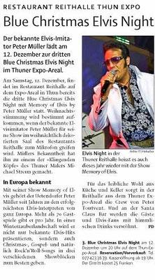 3 Blue Christmas Elvis Night mit www.elvis-show.ch