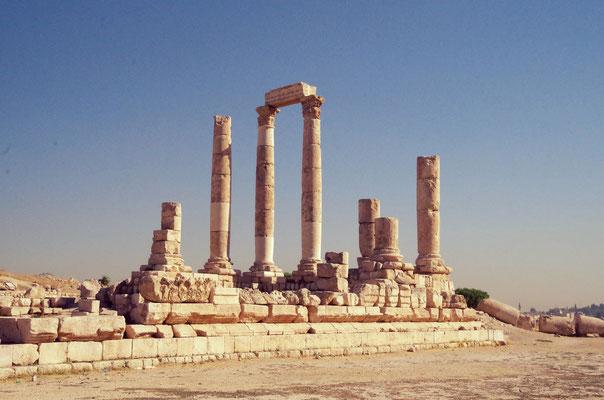 Säulen der Zitadelle in Amman
