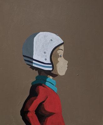 blue stripes - Acryl auf Leinwand, 60x50cm, 2020