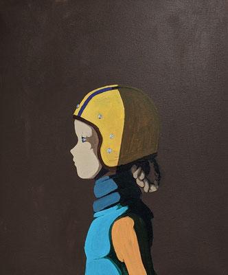 pigtails - Acryl auf Leinwand, 60x50cm, 2020