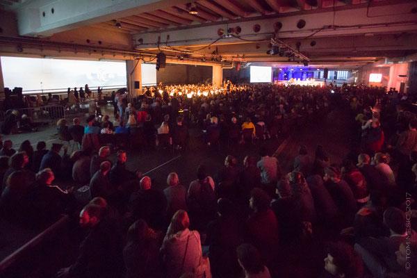 Große Konzertnacht Ars Electronica Linz 2017 Photo: Tom Mesic