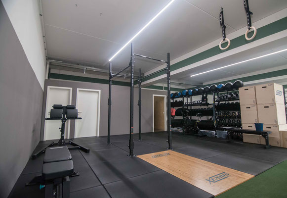 Trainingsfläche für das freie Training (Open Gym)