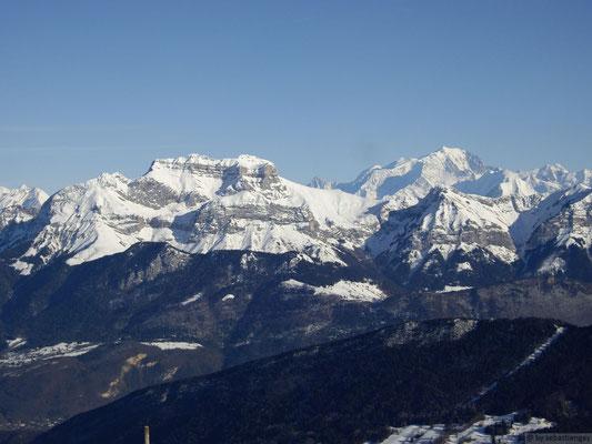 Vue depuis le sommet en hivers