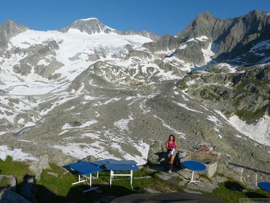 vue sur le Galenstok depuis le refuge Albert Heim Hütte SAC (Suisse)