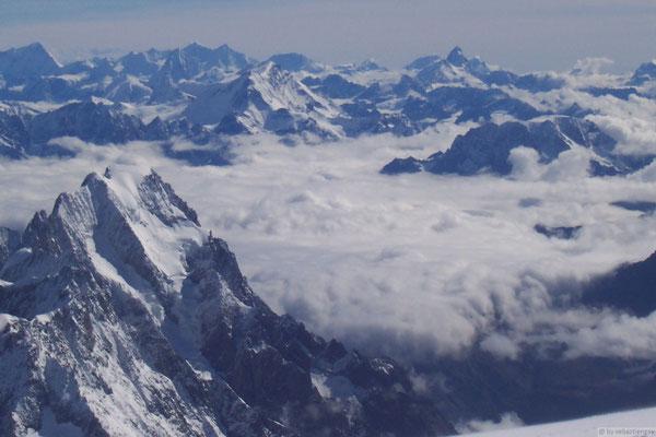 Vu depuis le sommet du Mt Blanc