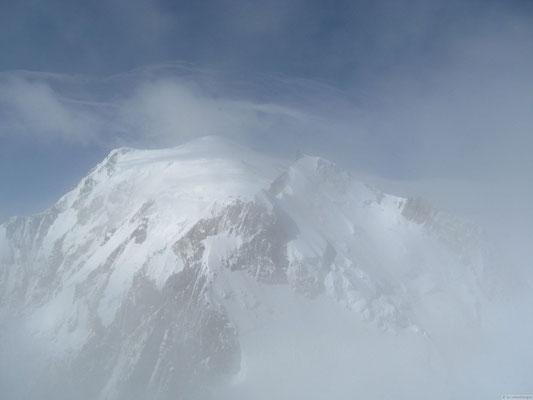 Vu sur le Mt Blanc depuis le sommet du Tacul
