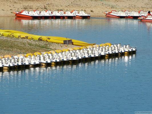 Pédalos sur le lac de St Croix