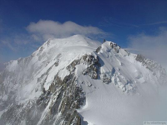 Vu sur le mont Maudit (depuis le sommet du Tacul)