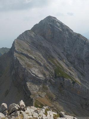 La pointe blanche depuis le sommet du Jalouvre