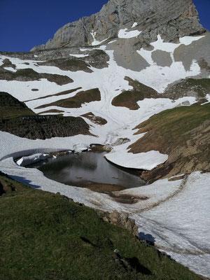 Lac de Peyre en hiver
