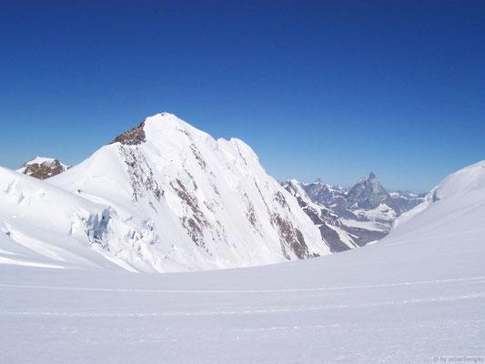 Col de Lys : Vu sur le Lyskam