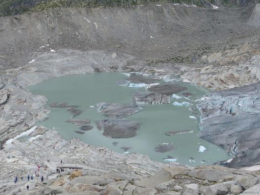 Le lac glacière du glacier du Rhône