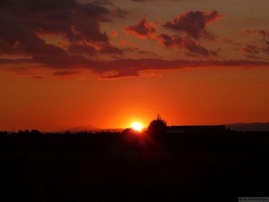 Coucher de soleil (Puimoisson-Gorges du Verdon)