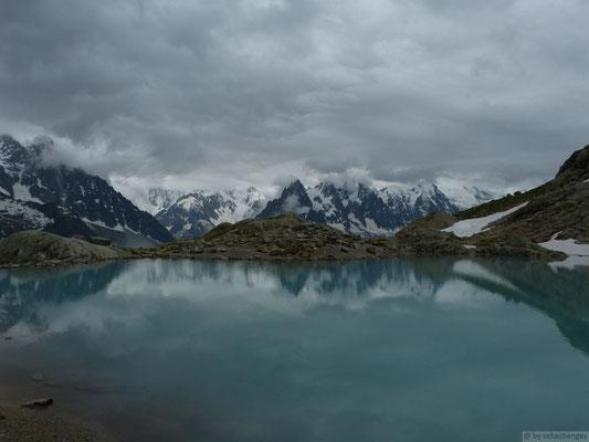 Vue depuis le lac blanc
