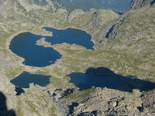 Les lacs Robert depuis le Grand Van