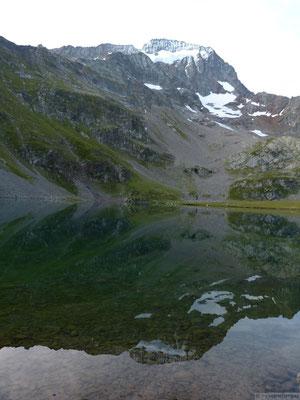 Reflets dans le lac de la Muzelle