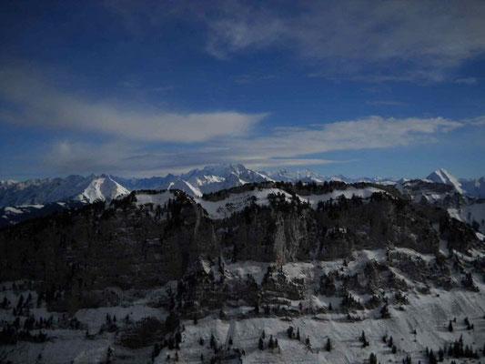 Le Mt Blanc depuis les dents de Lanfon
