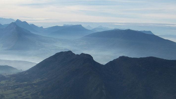 Vu sur les Bauges depuis le sommet du Parmelan