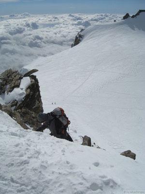 Dernièr pas avant le sommet Zumstein