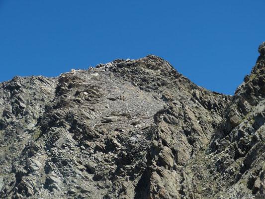 Le rocher Blanc depuis le col de l'Amiante