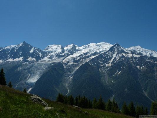 Les trois Monts (Tacul, Maudit et Blanc)