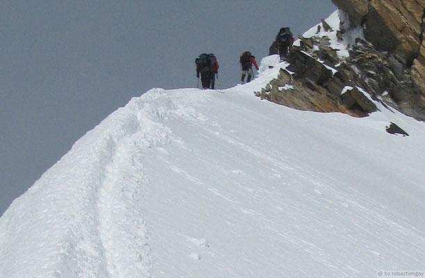 Dernière arrête avant le sommet Zumstein