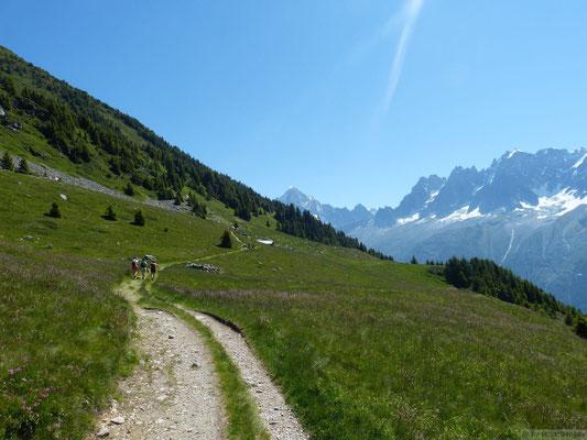 Chemin menant aux chalets de Chailloux