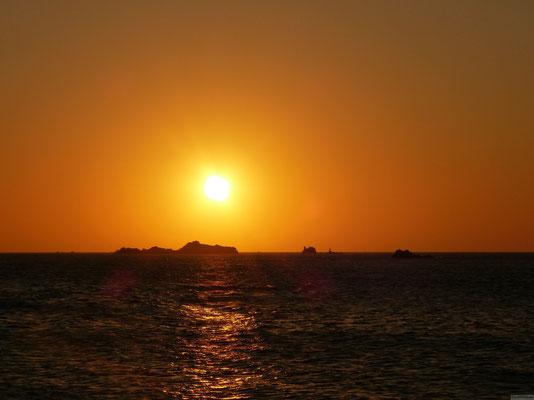 Coucher de soleil depuis Roscoff