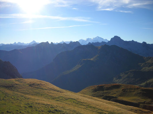 Au fond le Mt Blanc