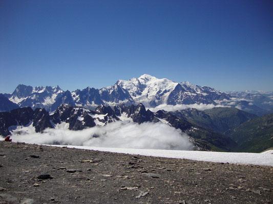 Vu sur le mt blanc depuis le sommet du Buet