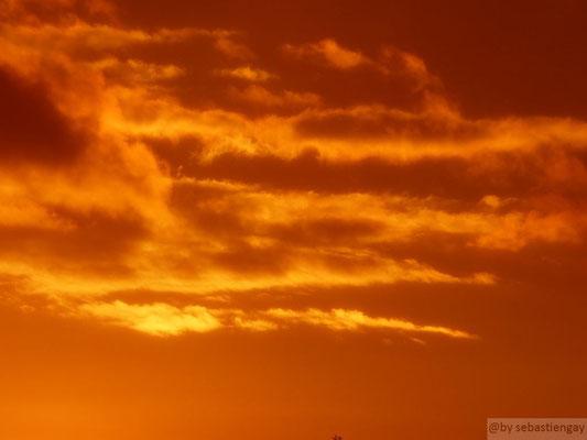 Ciel enflammé