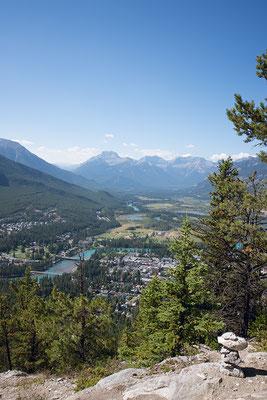 Aussicht vom Mount Tunnel auf Banff